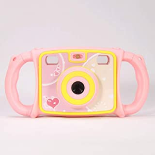 Children's Cartoon Digital Camera Double Lens Mini Children's Educational Toys 2-inch High-Definition Display Gift AIBAB 8027604_Blue