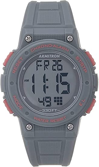 Armitron Sport Women's Digital Chronograph Resin Strap Watch, 45/7086
