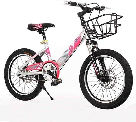 MYMGG Bicicleta Infantil 18 Pulgadas Doble Freno De Disco Bicicleta De Montaña Adecuado para Niños Mayores De 8 Años,Rosado: Amazon.es: Deportes y aire libre