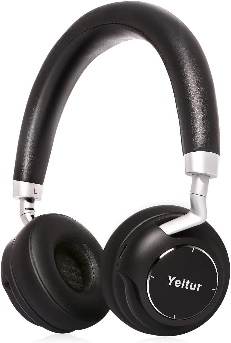 Yeitur Bluetooth Headphones with Mic Wireless Headphones On-Ear, Ultra Comfortable Protein Earpads Rotatable, HiFi Stereo Headset, Wired and Wireless Dual Mode PC Cell Phones TV
