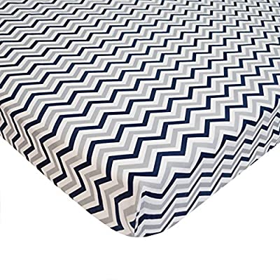 American Baby Company 100% Cotton Percale Fitted Portable/Mini Crib Sheet by American Baby Company