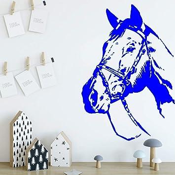 Wandtattoo Aufkleber Design für Kinderzimmer Pferd Love Blume Mädchen