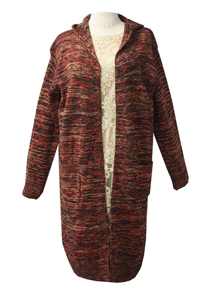 Wicky LS Women's Knitted Hoody Outwear Sweater Coat with Pockets