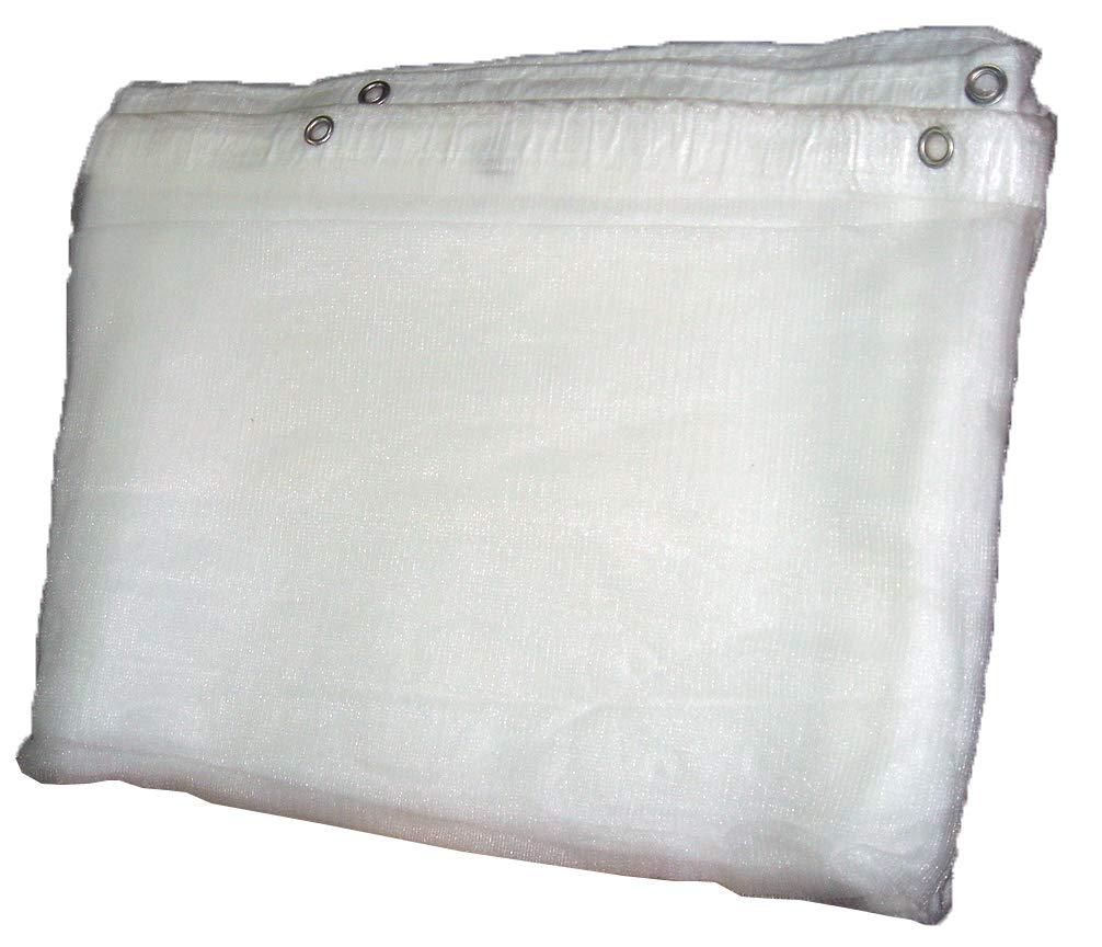 ウイングエース ラッセルメッシュシート 非防炎 (1.8×5.4) ホワイト 10枚入り B01KXH5YAU