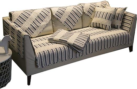 DFamily Moderno Funda Cubre sofá Algodón Seccional Funda para sofá Cubre sofá para Mascotas Antideslizante Protector de sofá Muebles para el salón-C 90x70cm(35x28inch)(1 Pieza): Amazon.es: Hogar