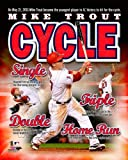 Mike Trout Los Angeles Angels 2013 Cycle Composite Photo 8x10
