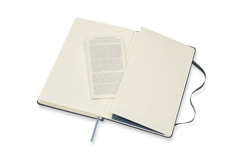 Amazon.com : Moleskine Classic Premium Leather Large Rule Notebook, Avio  Blue : Office Products
