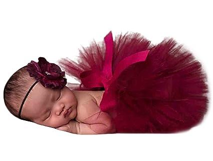 Happy Cherry - Disfraz Traje Falda Tutu de Fotografía Apoyo de Fotos para Bebés Niñas 3