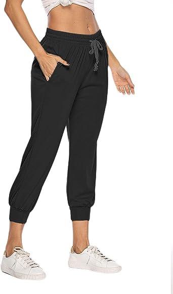 Womens Bottoms Jogging Tracksuit Sweatpants Cuffed Ladies 2020 Pocket