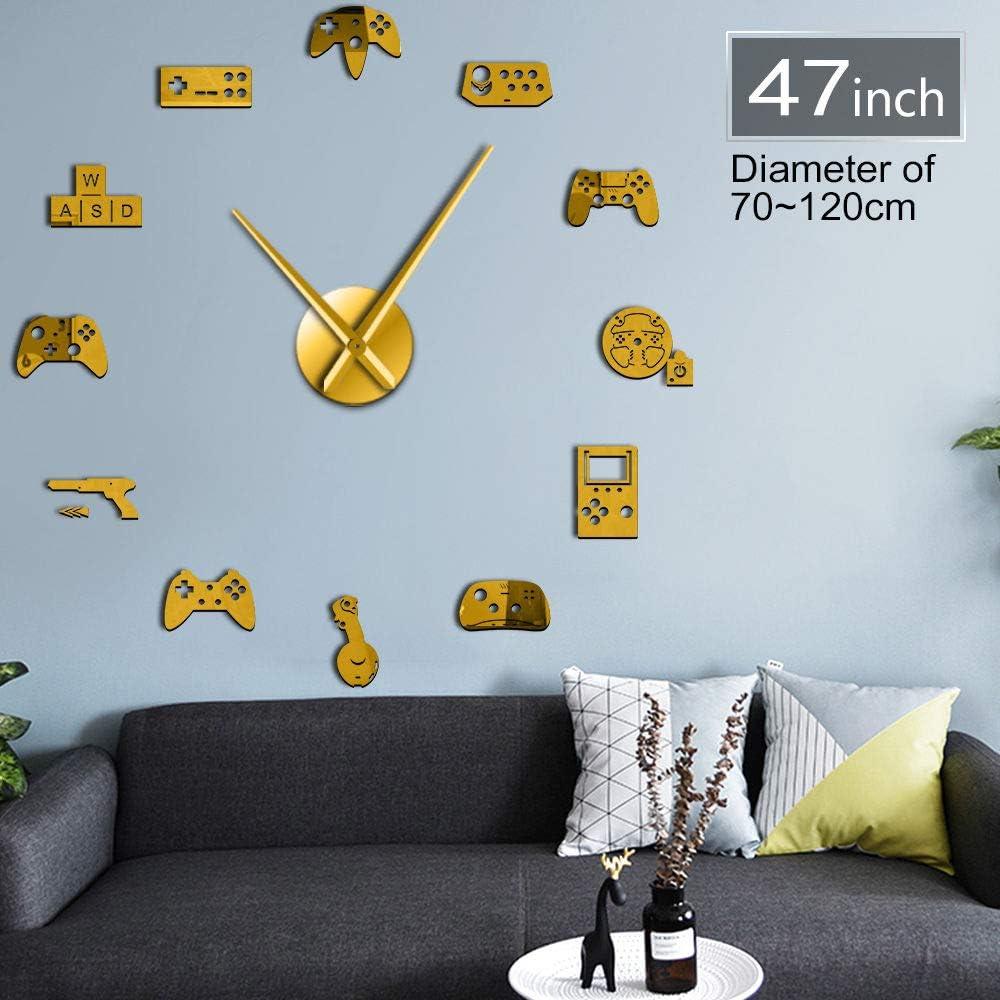 GUDOJK Playstation Gaming 3D DIY Horloge Murale Moderne Gamer Acrylique Horloge Montre De Mode Maison Mur Art D/écoration Populaire Jeu Cadeau pour Enfant
