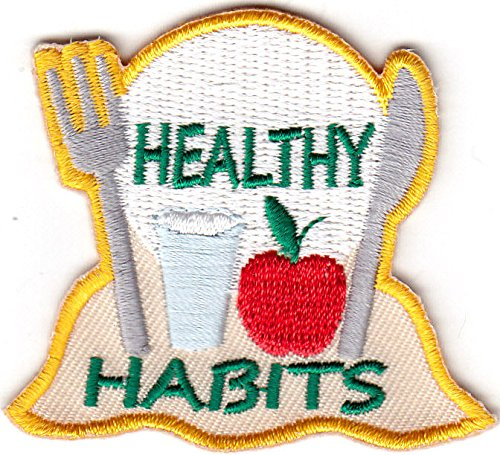 RON ON EMBROIDERED PATCH - HYGIENE - HEALTH - FOOD (Habit Patch)