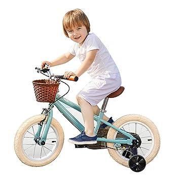 Bicicletas Para Niños Chicas Niños Azules Regalos Infantiles Marco De Acero Al Carbono Rueda Neumatica De Amortiguacion: Amazon.es: Deportes y aire libre