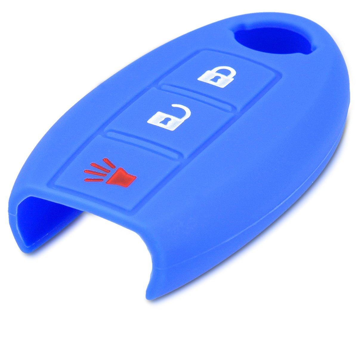 de Negro Suave - Case Mando de Auto kwmobile Funda de Silicona para Llave de 3 Botones para Coche Nissan Silicona Carcasa Protectora