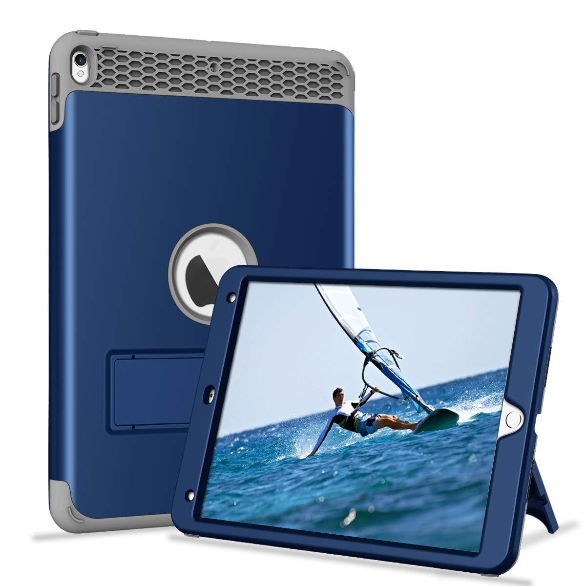 正規代理店 Hocase B07KZVZZRX iPad Pro ネイビーブルー 10.5ケース 耐衝撃保護 iPad キックスタンド付き 高耐久 ハードプラスチック+シリコンラバーバンパー ハイブリッド保護ケース iPad Pro 10.5インチ 2017年モデル A1701/A1709用 - ネイビーブルー B07KZVZZRX, Highball:cb3b460e --- a0267596.xsph.ru