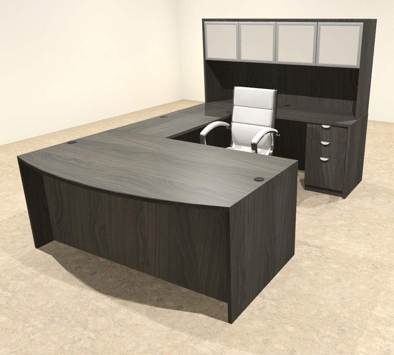 OT-SUL-U62 5pc U Shape Modern Executive Office Desk