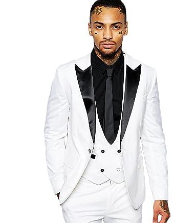 AK Beauty Men\'s Three Piece Wedding Prom Formal Suit (Jacket+Pants+ ...