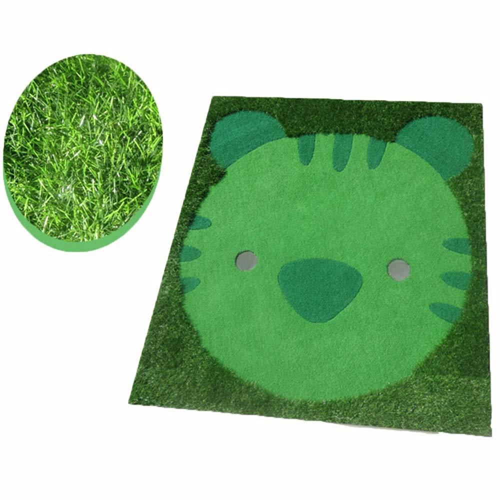 キッズゴルフグリーンかわいい動物モデリング屋内人工グリーンゴルフパッティンググリーンシステムプロフェッショナル練習用ティーンエイジャー青少年 ゴルフ練習用 (色 : 緑, サイズ : 1.5*1.7M) 1.5*1.7M 緑 B07PX22YR2