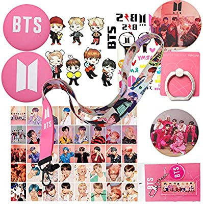 Bts Gifts Set For Army Map Of The Soul Persona Gift Kits 40 Pcs Bts Lomo Cards 4 Bts Button Pins 1 Bts Phone Ring Holder 1 Bts Keychain 1 Bts