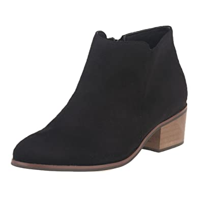 Amazon.com | ZriEy Women's Faux Velvet Suede Chunky Heel Boots ...