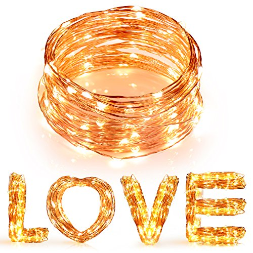 Outdoor Plug In Flexible String Lights : 50% OFF! Boomile 33ft LED String Lights, 100 LED, Copper Wire, Flexible Fairy Lights, Warm White ...