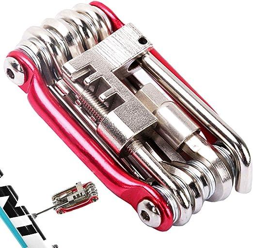 11 Dans 1 Outils De V/élo D/éfinit V/élo Multi Kit De R/éparation Hexagonal Cl/é /à Rayons Tournevis En Acier Au Carbone Multifonction Pliant Multitools11 En 1 Outils De V/élo D/éfinit Bike Kit Multi