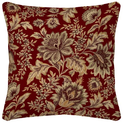 Arden Companies Strathwood Spun Polyester Pillow, 20 by 20-Inch, Melinda Coral, Set of 2 (Furniture Outdoor Strathwood)