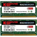 Komputerbay MACMEMORY DDR3-1600 1.35V(低電圧) ノートPC用SODIMM 16GBセット (8GB×2) PC3-12800