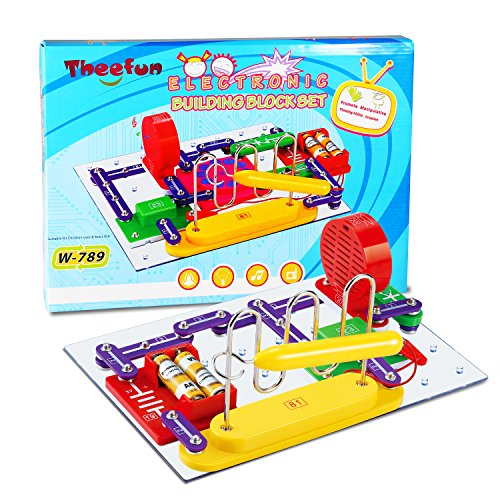 Theefun 789-Projects Smart Electronics Educational Kit, Electronics Discovery Kit, Smart Electronics Block Kit,Great DIY Building Blocks Electric Circuits for Children