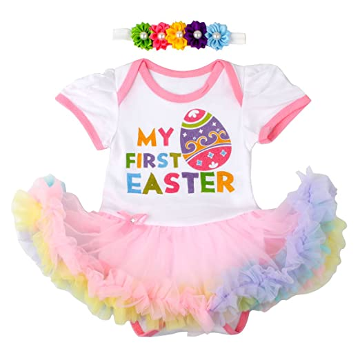 c89509b08 Amazon.com  Slowera Baby Girl s 0-18 Months My First Easter Dress ...