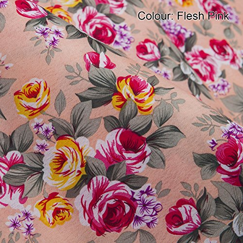 Neotrims Classic English Roses Print Floral Fabric in 5 Vivid Shades. Fat Quarters and By the Meter. Amazing Cheap Wholesale Price for Woven Materail. For Apparel, Crafts, Home Furhinshings, Curtains & Decoration. Patchwork Quilt Making! (Quarters Woven Fat)