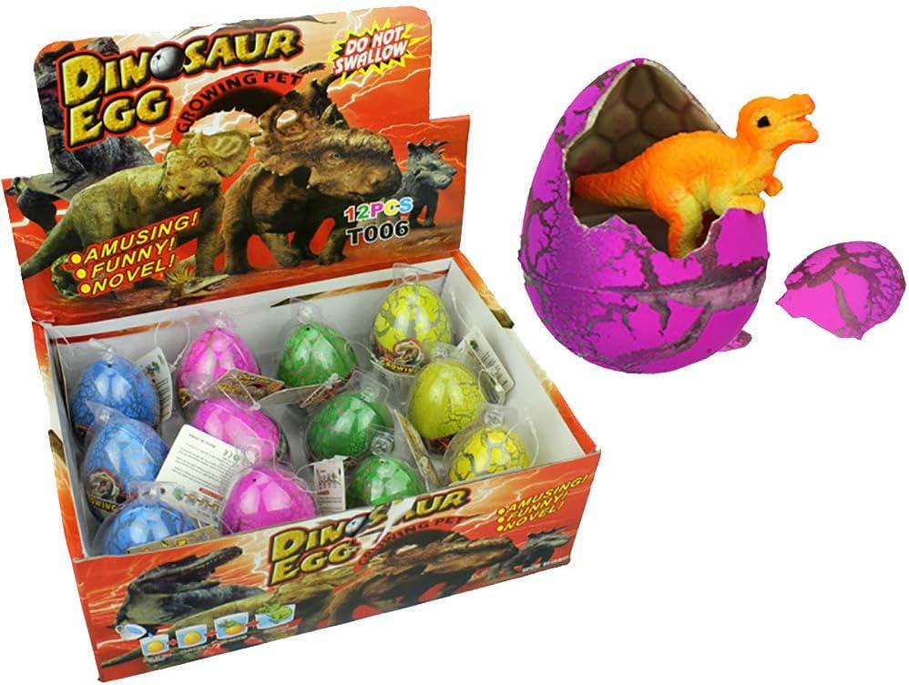 3X Dinosaurier Dinoei Dino Ei Schlüpf Dino magische Egg wächst im Wasser YB