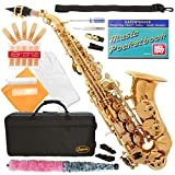 320-LQ - GOLD/Lacquer Curved Bb Soprano Saxophone Lazarro+11 Reeds,Music Pocketbook,Case,Care Kit - 24 COLORS - SILVER or GOLD KEYS - CHOOSE YOURS !