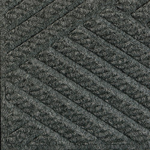 Half-Circle Waterhog Grand Premier Door Mats - Gray Ash 3' x
