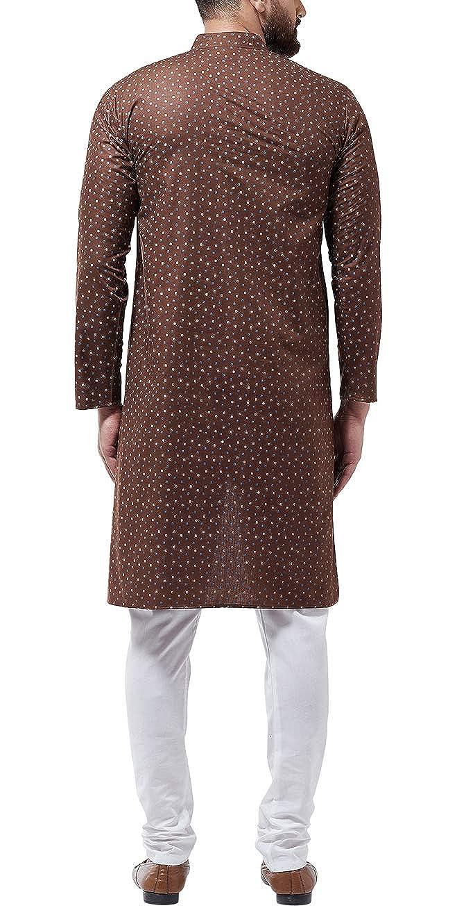 Bollywood-Indian-Kurta-Pajama-Dress-Tunic-Printed-Top-Men-Kurta-Ethnic-Wear thumbnail 12