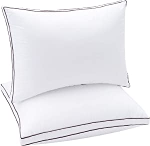 Soamay Bed Pillows for Sleeping 2 Pack, Luxury Down Alternative Pillows with Premium Plush Fiber, Good for Side and Back Sleeper-20 x 36 Inches (King)
