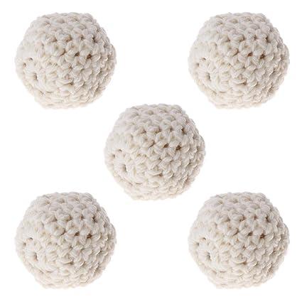 Manyo 5Pc dentición de madera perlas cubiertas bolas de mezcla de ...
