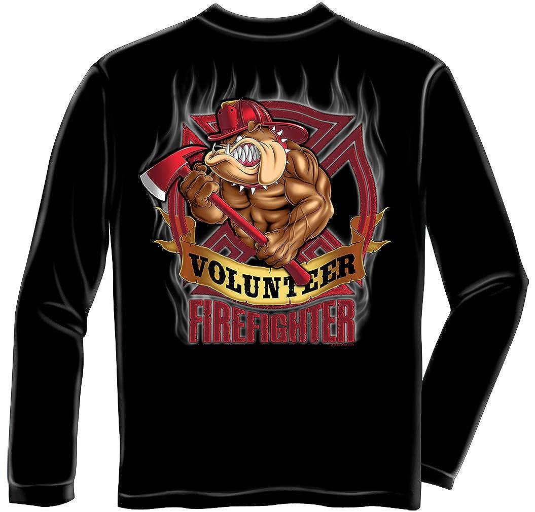 62dcf541 Amazon.com: Erazor Bits Firefighter Fire Dog Shirt - Volunteer Bulldog Fireman  Tshirt Gift for Men: Clothing
