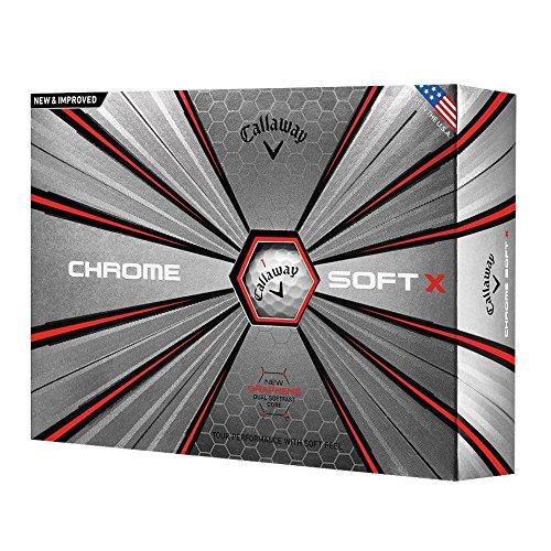 Callaway 2018 Chrome Soft X Golf Balls (One Dozen), White