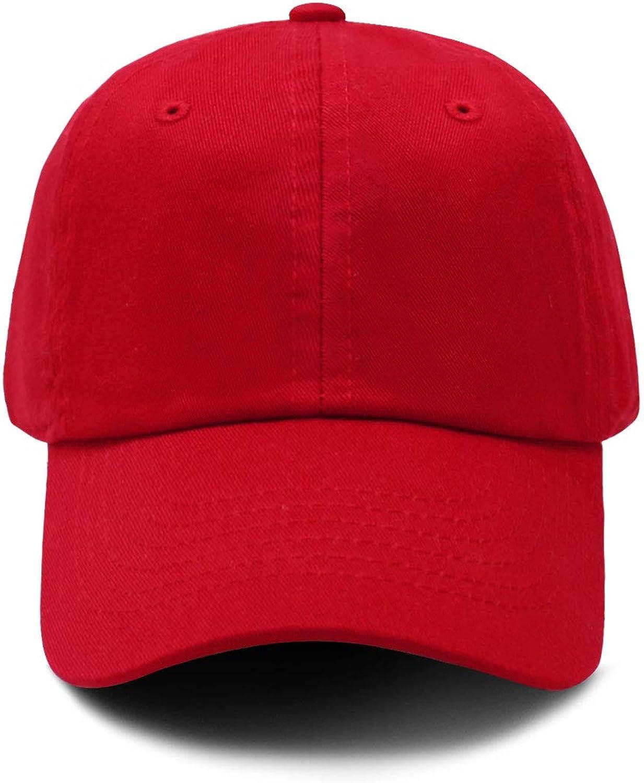 Honoson 3 Pieces Unisex Toddler Kids Children Plain Cotton Baseball Cap Adjustable Low Profile Baseball Hat