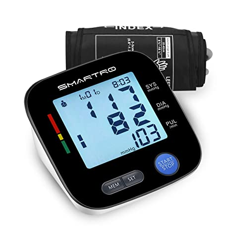 Amazon.com: Blood Pressure Monitor Upper Arm - Digital Automatic Large Cuff BP Monitor for Home Use, 2 * 90 Memories, Storage Bag Included, ...