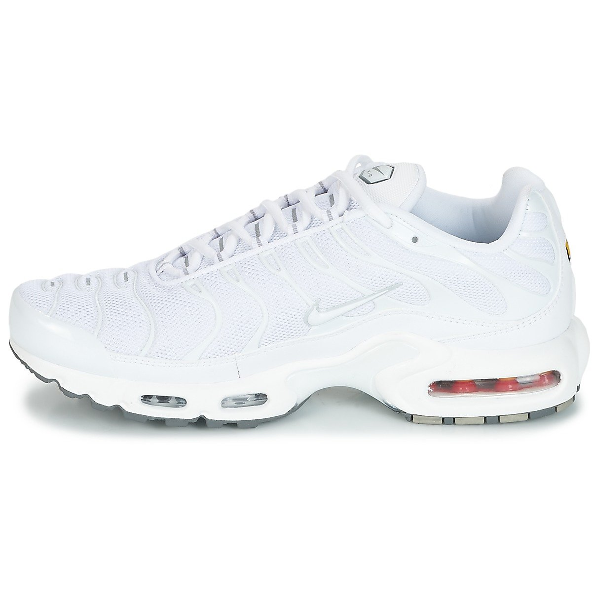 outlet store c0e2e 026c6 Amazon.com   NIKE Air Max Plus Lifestyle Fashion Sneakers White White-Black-Cool  Grey New 604133-139 - 14   Running