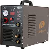 Lotos CT520D 50 AMP Air Plasma Cutter, 200 AMP Tig and Stick/MMA/ARC Welder 3 in 1 Combo Welding Machine, ½ Inch Clean…