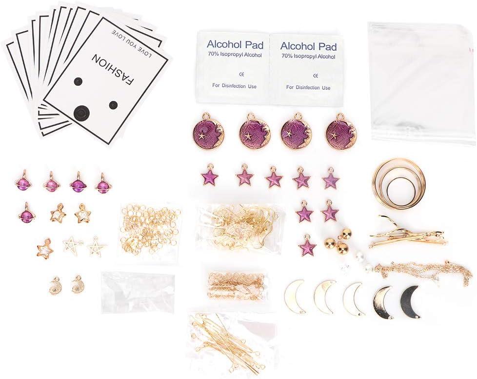 Purple Purple DIY Earring Material Zinc Alloy Earring Kits Green Blue Handmade Jewelry Making Findings Supplies Accessories