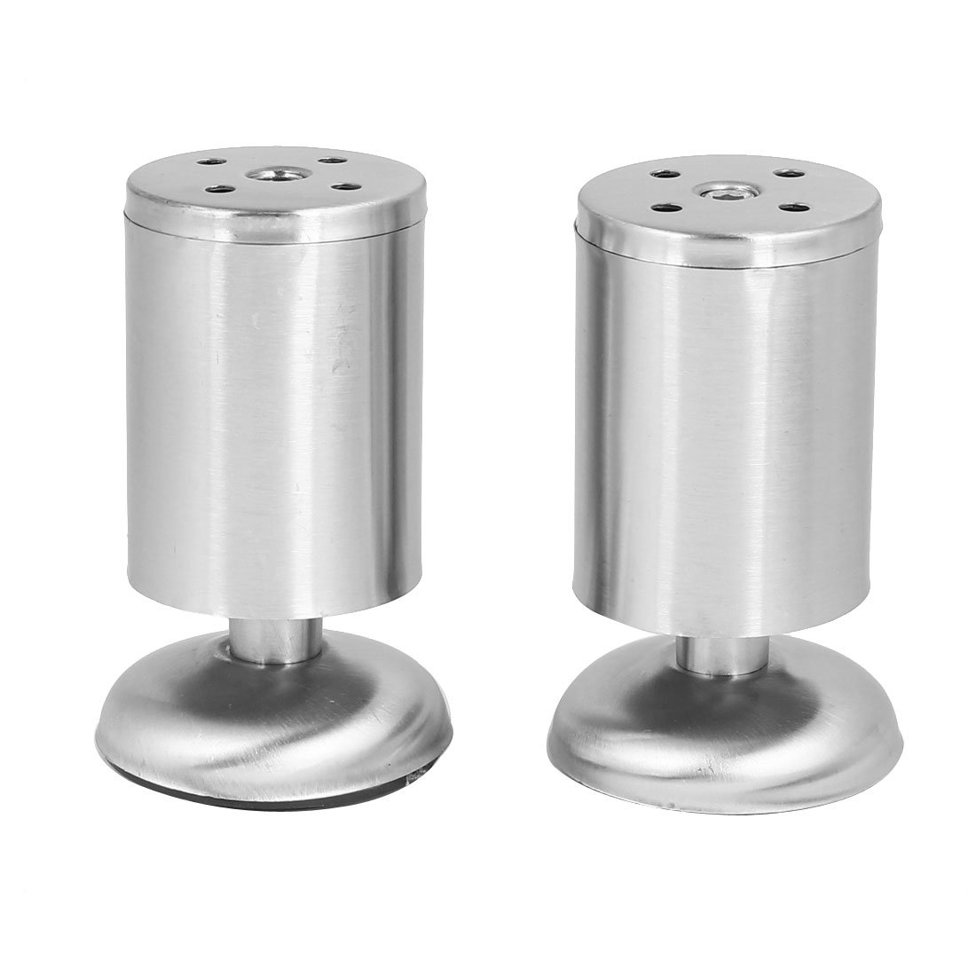 uxcell Furniture Cabinet Bed Table 50mmx100mm Round Shape Metal Adjustable Leg Feet 2pcs