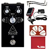 Jackson Audio Prism Buffer, Boost, Preamp, EQ, Overdrive Pedal with 9V Power Supply, Tuner, Patch Cables, Picks, and Polish C