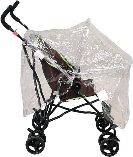 Habillage pluie avec armature pour poussette bébé sans capote