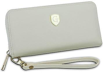 91d25753a97b6 GenTo® Damen Geldbörse Mailand Nappa Leder mit RFID Schutz - Großes Design  Damen Portemonnaie in