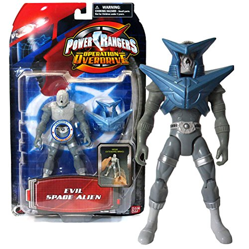 Bandai Year 2006 Power Rangers Operation Overdrive Series 5-1/2 Inch Tall Action Figure - EVIL SPACE ALIEN with Stretching Arm, Light and Removable Armor ()