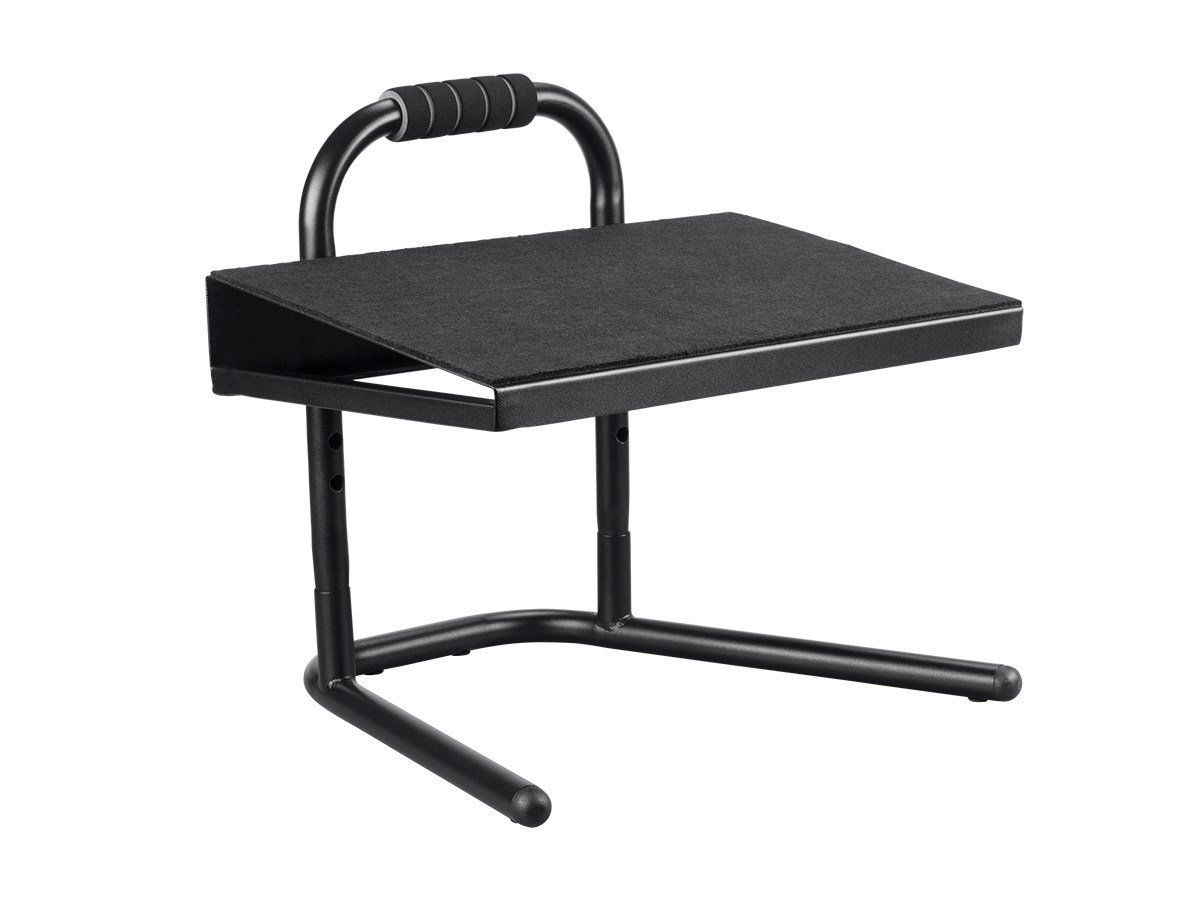 Monoprice Height Adjustable Standing Foot Rest - Black | Steel Stool, Ideal for Work, Desk, Home and Office