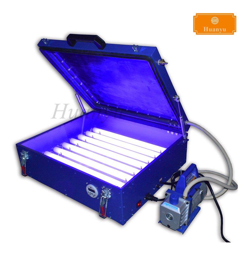Huanyu 5060 Precise Vacuum UV Exposure Unit Machine Screen Printing Plate Making Silk Screening Machine with 8 20W Light Tubes (220V)